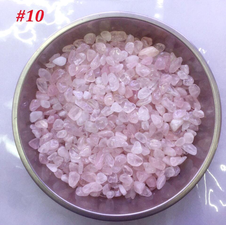 Hình ảnh Đá Thạch Anh Thiên Nhiên Vụng Chưa Khoan Lỗ - Quy cách đóng gói 100g/01 bịch - Giá sản phẩm là giá trên 100g
