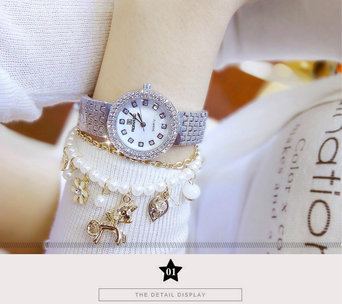 Đồng hồ nữ ROMATIC Mặt Xà Cừ Nhỏ Xinh Sang Trọng - Máy Nhật cao cấp - Tặng Kèm Pin ĐH Dự Phòng 8