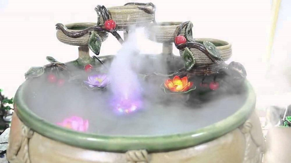 Hình ảnh Máy Tạo Khói Bể Cá + Phun Sương + Đèn Led đổi màu