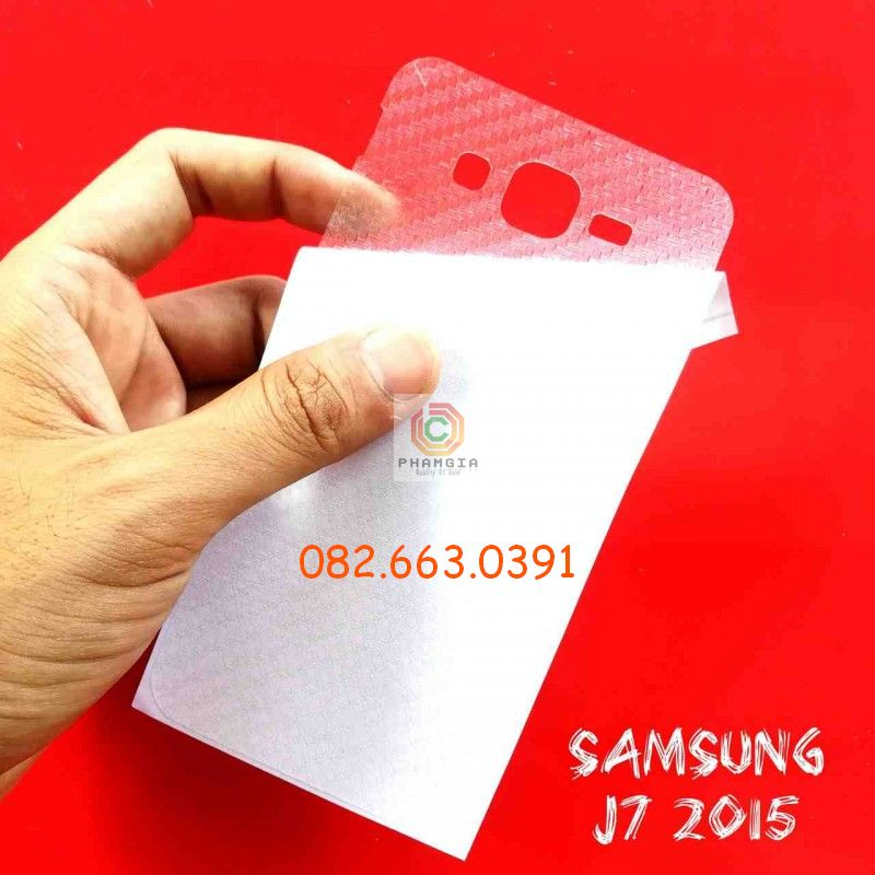 Miếng dán mặt lưng skin carbon Samsung Galaxy J7 2015/ J7 2016/ J7 Prime/ J7 Pro/ J7 Plus/ J7 Max/ J7 Duo