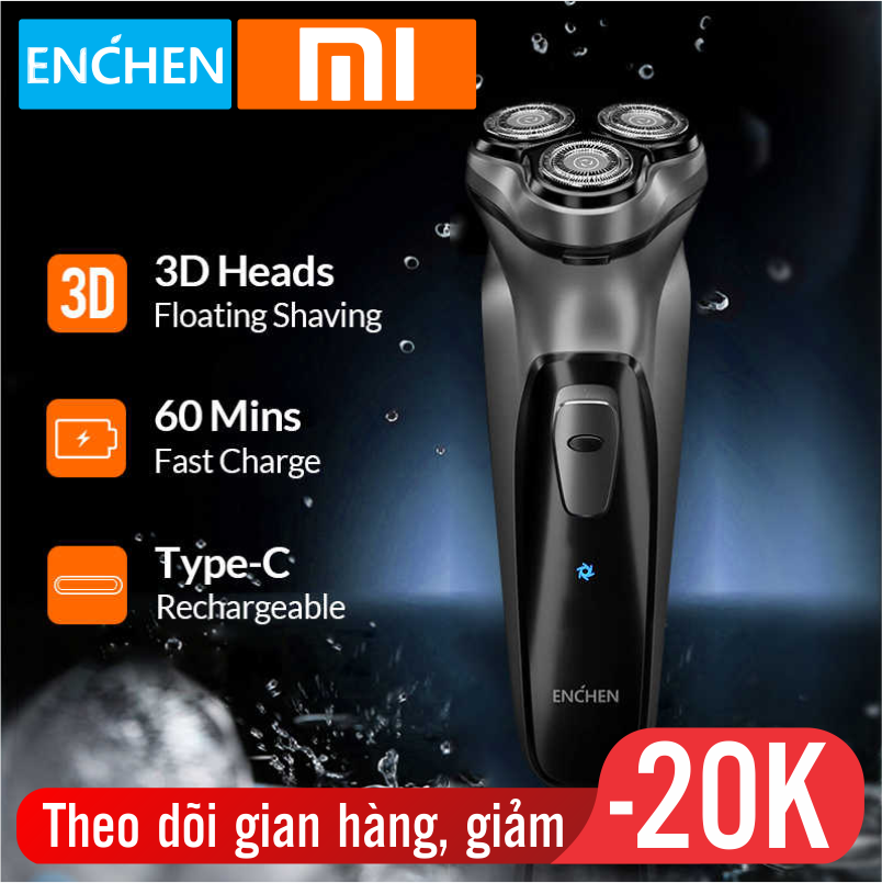 Máy cạo râu Enchen BlackStone 3D đa năng - tự động mài lưỡi dao, chống nước , bảo hành 12 tháng - may cao rau - máy cạo râu