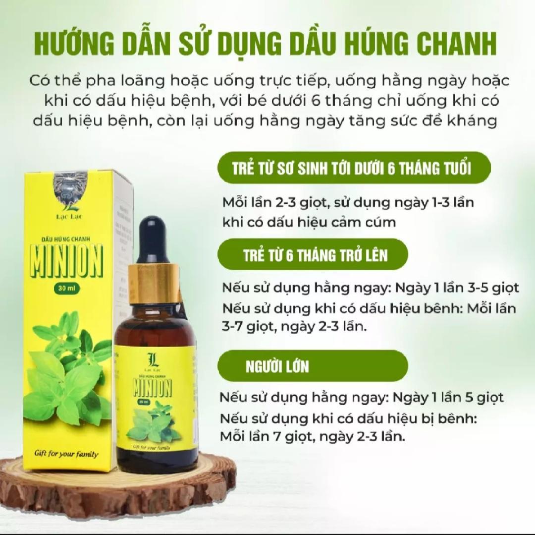 Dầu Húng Chanh Minion - Chính hãng - Mẫu mới nhất 5