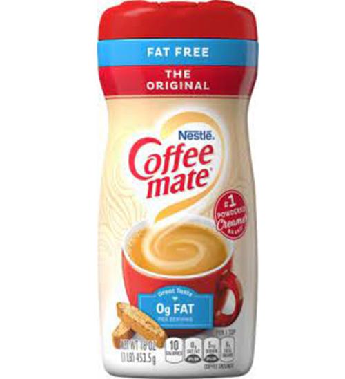 [HCM]Bột kem sữa pha cafe trà sữa kem Nestle Coffee Mate Sugar Free hộp 452gr của Mỹ dành cho người ăn kiêng tiểu đường