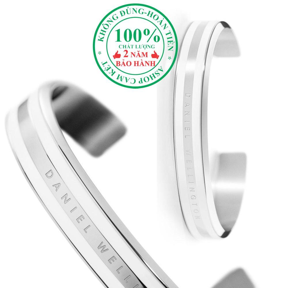 Vòng tay nữ DW Classic Bracelet, màu Trắng (White), phủ men trắng (White), size S- DW00400008