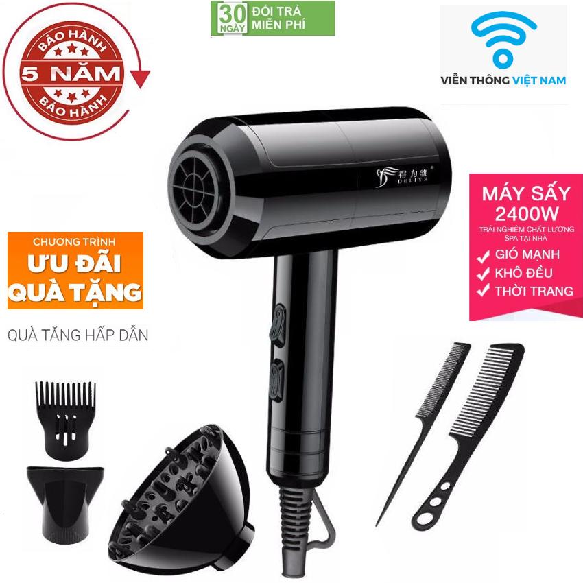 ( Hàng Cao Cấp ) Máy sấy tóc gió 2 chiều nóng lạnh DELIYA 2400w-Phù hợp mọi kiểu tóc Tặng kèm 5 sản phẩm, máy sấy tóc, máy sấy tóc công suất lớn, máy sấy tóc mini, máy sấy tóc tạo kiểu, Máy Sấy Tóc 2 Chiều