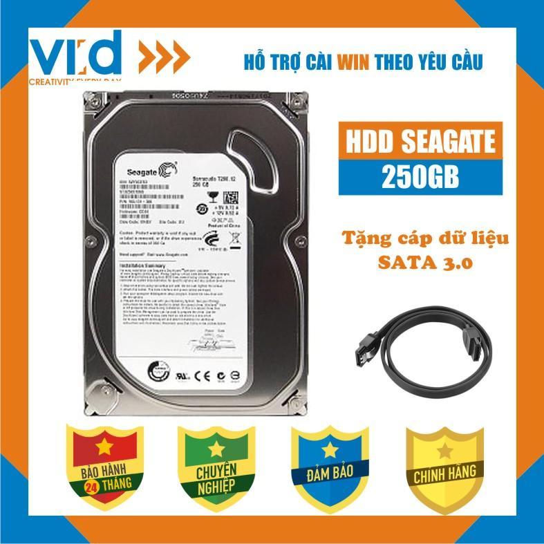 Ổ cứng HDD 250GB Seagate - tặng cáp sata 3.0 - Hàng tháo máy đồng bộ nhập khẩu mới 98% - Bảo hành 24T