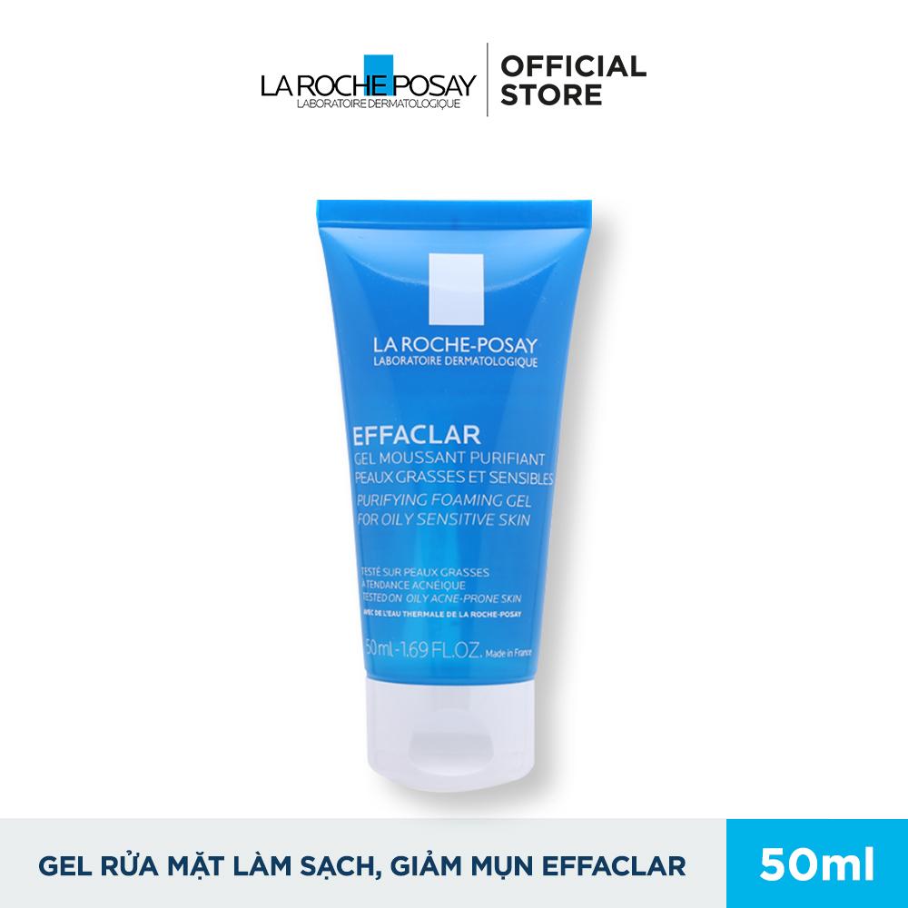 Gel Rửa Mặt Tạo Bọt Làm Sạch Dành Cho Da Dầu Nhạy Cảm La Roche Posay Effaclar 50ml