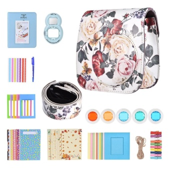 10 in 1 Accessories Kit for Fujifilm Instax Mini 8/8+/8s/9 Include Camera Case/Strap/Selfie Mirror/Filter/Album/Corner Sticker/Photo Frame/Photo Sticker/Pen - intl