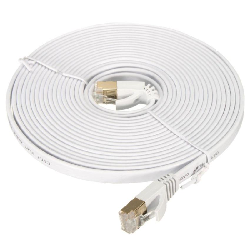 Hình ảnh 10Gbps 600Mhz CAT-7 RJ45 LAN Network Ethernet Flat Cable Modem Router 5M - intl