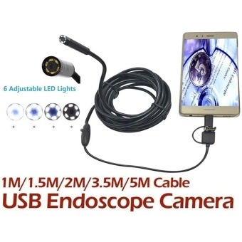 2M 7MM 3in1 USB Type-C 6LED Endoscope Video Camera For Android Windows PC - intl