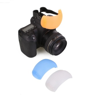 3 Color Puffer Pop-Up Flash Soft Diffuser Dome For SLR CameraUniversal - intl
