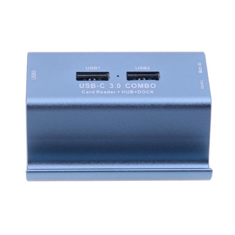 Bảng giá 3Ports USB3.0 HUB with SD/TF OTG Card Reader for PC Phone Laptop(Blue) - intl Phong Vũ