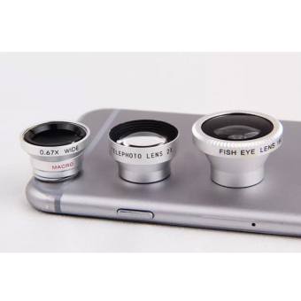 4-in-1 Fish Eye+Wide Angle Macro Telephoto Lens Camera for iPhoneSamsung - intl
