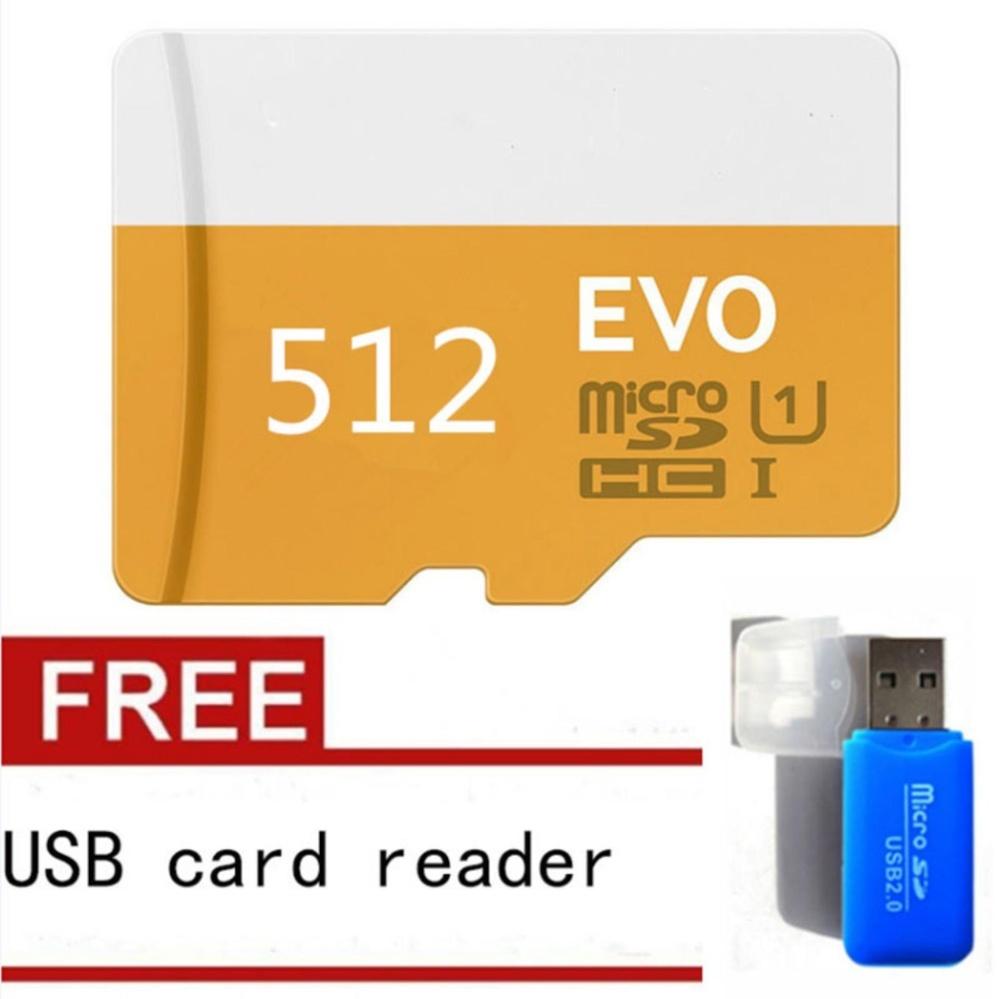512GB Class 10 Micro SD card with Adaptor (Orange) - intl