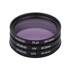 Andoer 40.5mm UV+CPL+FLD Circular Filter Kit Circular Polarizer Filter Fluorescent Filter