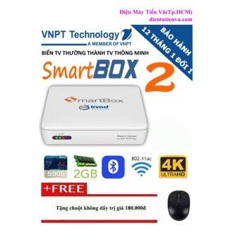 Android Tivi Box VNPT Smart Box V2 RAM 2GB (Trắng) + Tặng 01 chuột không dây