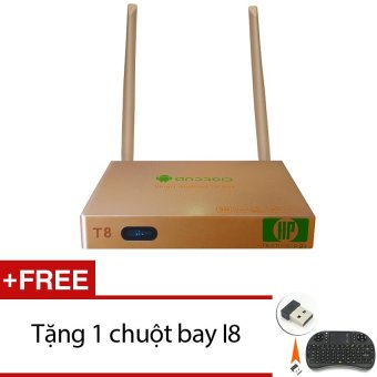 Android TV Smart Box HP Technology T8 (Vàng đồng) + Tặng 1 chuộtbay I8