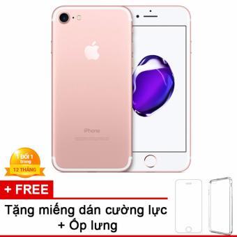 Apple iPhone 7 128GB Hồng - Hàng nhập khẩu + miếng dán cường lực + ốp lưng