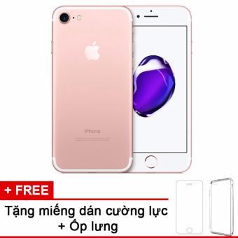Apple iphone 7 32GB Rose và m.dán cường lực, ốp lưng (Hàng nhập khẩu LLA Mỹ)