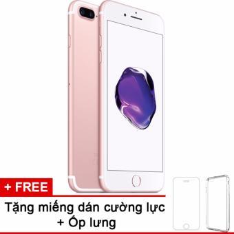 Apple iphone 7plus 128GB Rose và m.dán cường lực, ốp lưng (Hàng nhập khẩu LLA Mỹ)