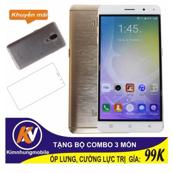 Arbutus Max 7S 16GB + Cường lực + Ốp lưng Kim Nhung (Vàng) - Hàng nhập khẩu
