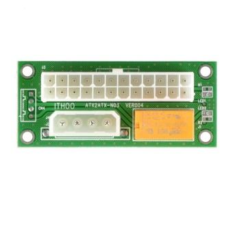 [electronicity] Giá ATX 24Pin to SATA Molex 4Pin Dual PSU Power Card – intl  114.950đ
