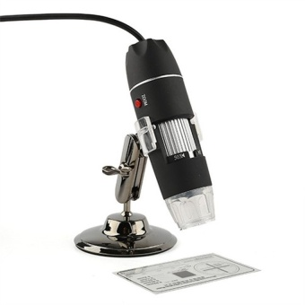 Aukey 500X 8 LED Digital USB Endoscope Magnifier Black - intl