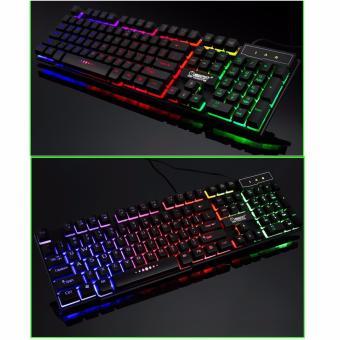 Bàn phím giả cơ chuyên Game Zerodate X11 Led đa màu (Đen)