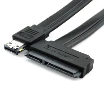 [XLT Technology] Giá Black Dual Power eSATA USB 12V 5V Combo to 22Pin SATA USB Hard Disk Cable – intl  192.000đ