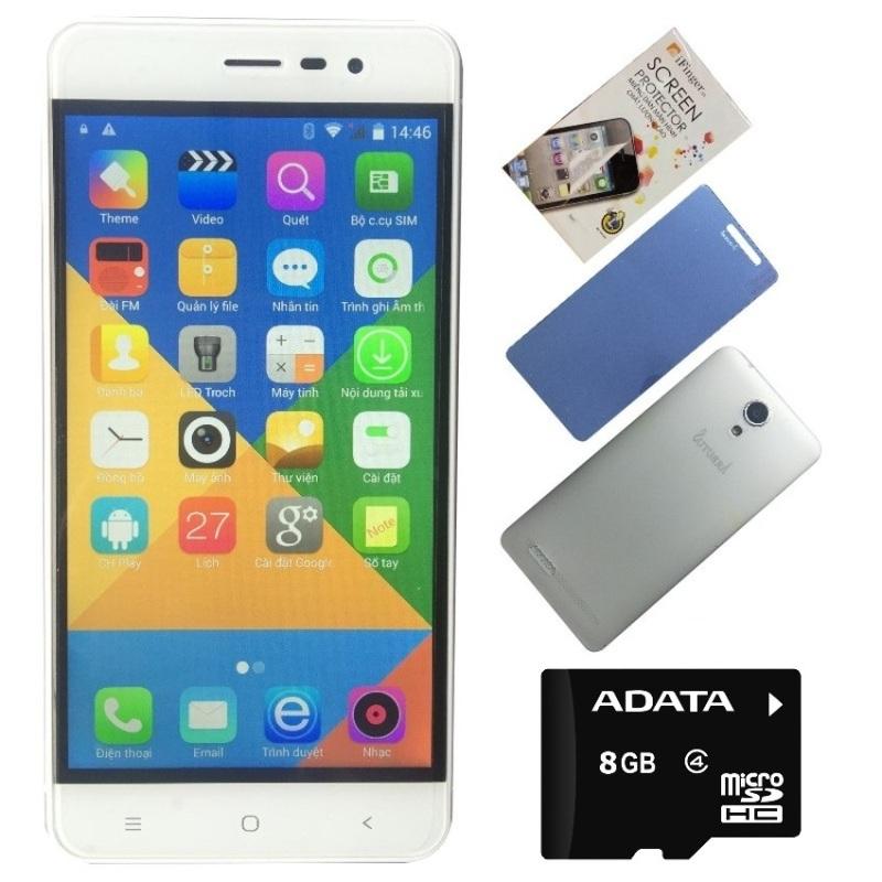 Bộ 1 Arbutus Ar5 8GB (Trắng) + 1 Thẻ 8GB + 1 Kính cường lực + 1 Ốp lưng - Hàng nhập khẩu