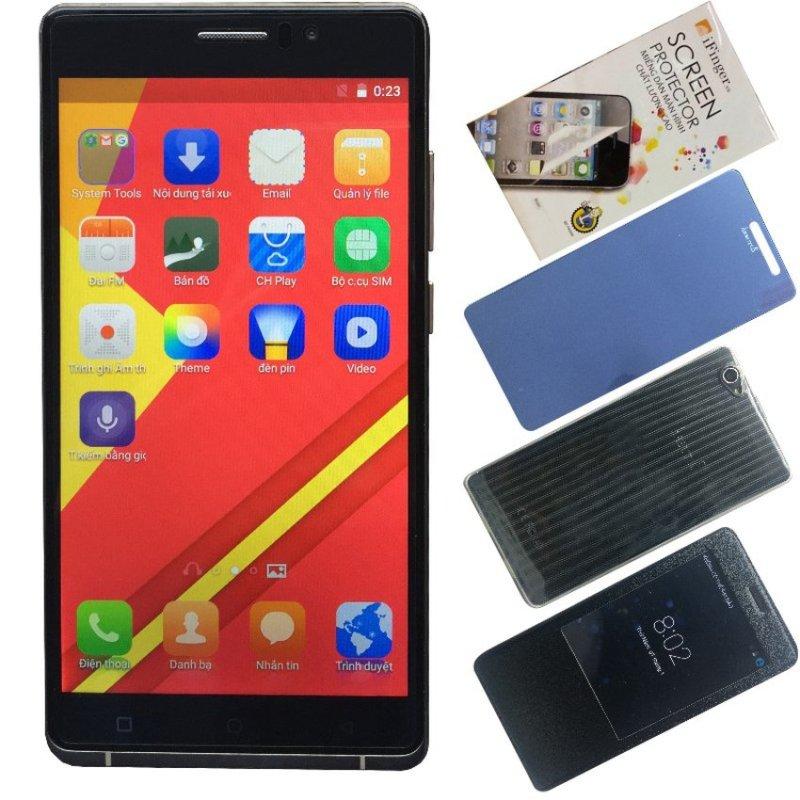 Bộ 1 Arbutus Ar6 8GB (Đen) + 1 Kính cường lực + 1 Bao da + 1 Ốp lưng + 1 Dán màn hình - Hàng nhập khẩu