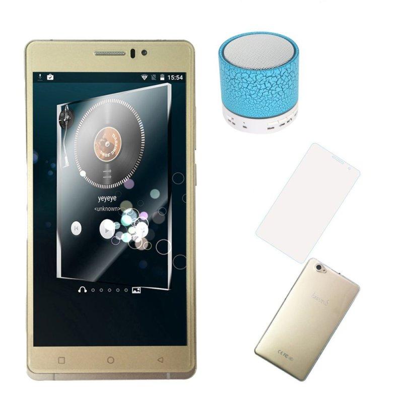 Bộ 1 Arbutus AR6 Plus 8GB (Vàng) + 1 Bao da + 1 kính cường lực + 1 Ốp lưng + 1 loa Bluetooth