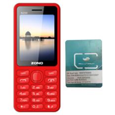 Mua Bộ 1 ĐTDĐ Zono N200 2 SIM (Đỏ) và 1 Sim Dcom 3G Viettel  Tại Kho Di Động (Hà Nội)