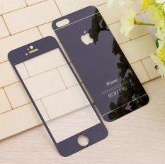 Bộ 2 mặt kính cường lực Glass tráng gương cho iPhone 5 5S (đen)