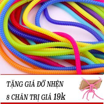 Bộ 20 dây quấn cáp đa sắc màu + Tặng kèm gía đỡ nhện 8 chân đa năng