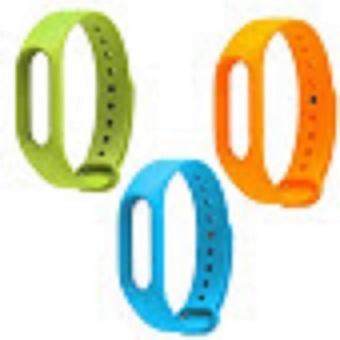 Bộ 3 dây đeo Xiaomi miband 2 (xanh lá xanh dươngcam)