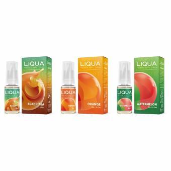 Bộ 3 lọ tinh dầu vape New Liqua Elements 10ml vị Black tea, Orange,Watermelon