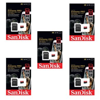 Bộ 5 thẻ nhớ microSDXC Sandisk Extreme Pro 633X 64GB Class 10 UHS-I 95MB/s (Đen)