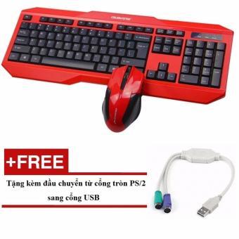 Bộ bàn phím game và Chuột chơi game Colorvis C83A (Đỏ phối đen) + tặng kèm đầu chuyển USB
