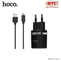 Bộ cáp và cốc sạc Hoco C12 1A - cổng microUSB (Đen) - Hãng phân phối chính thức