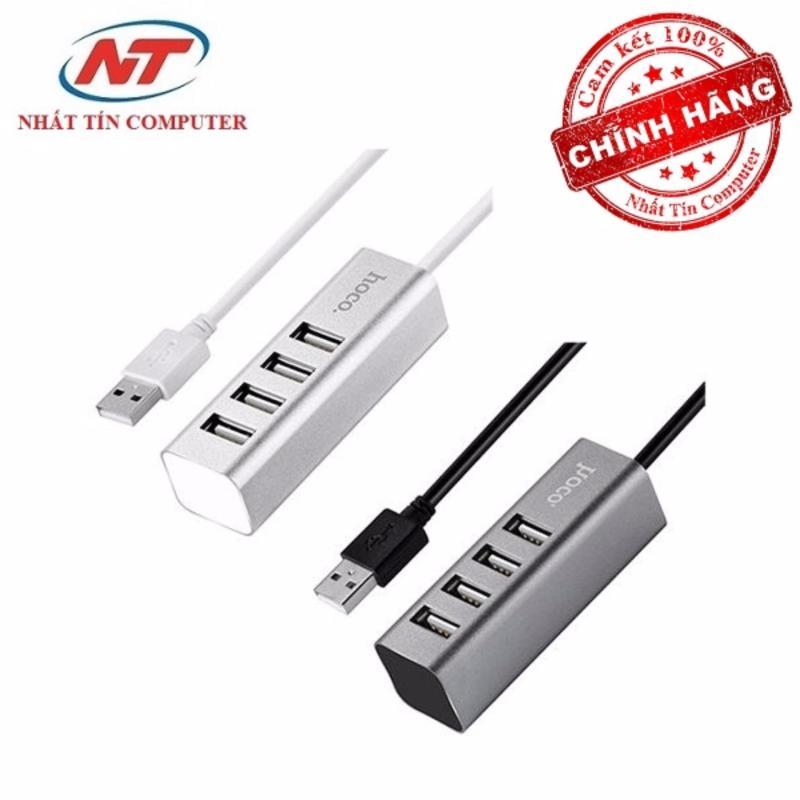 Bảng giá Bộ chia cổng USB Hoco HB1 - 4 cổng USB (Xám) - Hãng phân phối chính thức Phong Vũ