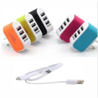 Bộ Cốc sạc điện thoại đa năng 3 cổng USB + Cáp sạc tiện ích. - 8188938 , HO736ELAA2TTDVVNAMZ-4866297 , 224_HO736ELAA2TTDVVNAMZ-4866297 , 35000 , Bo-Coc-sac-dien-thoai-da-nang-3-cong-USB-Cap-sac-tien-ich.-224_HO736ELAA2TTDVVNAMZ-4866297 , lazada.vn , Bộ Cốc sạc điện thoại đa năng 3 cổng USB + Cáp sạc tiện ích.
