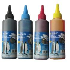 Bộ mực 4 màu G&G (Đen, xanh, đỏ, vàng) máy HP DeskJet Ink Advantage 1115 (In, Copy, Scan)