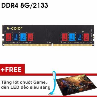 Bộ nhớ Ram PC V-COLOR (8GB, DDR 4, Bus 2133Mhz) Tản Nhiệt Cao Cấp + Quà Tặng