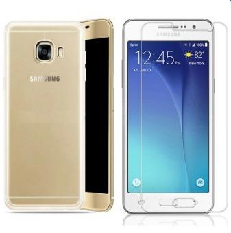 Bộ Ốp lưng Silicon cho Samsung J7 Prime (Trắng) + Kính cường lực2.5D
