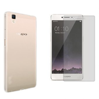 B p lng silicon Oppo R7S (Trng) + Knh Cng Lc 2.5D