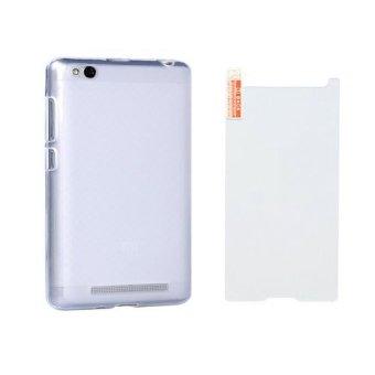 Hình thu nhỏ Bộ ốp lưng silicon Redmi 3 ( trắng) + Kính cường lực 2.5 D