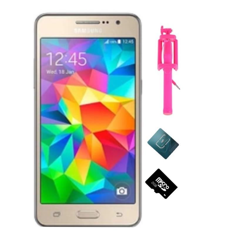 Bộ Samsung Galaxy Grand Prime G530 8GB (Vàng) + Thẻ nhớ 2GB + Gậy C hình +Sim viettell - Hàng nhập khẩu