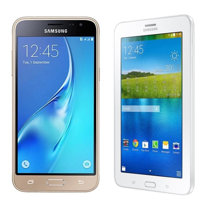 Bộ Samsung Galaxy J3 4G/LTE (Vàng) + Samsung Galaxy Tab 3V T116 (Trắng) - Hãng phân phối chính thức