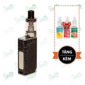 Bộ sản phẩm thuốc lá điện tử (vape) Ovancl P9 (Black) tặng 3 lọ tinh dầu New Liqua 10ml vị Dứa, Dâu, Dưa hấu